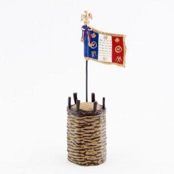 gabion (en volume) avec drapeau français (Empire)