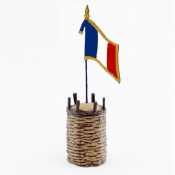 gabion (en volume) avec drapeau français (14-18)