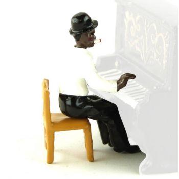 pianiste assis sur chaise (diorama le Jazz) (JZ02)