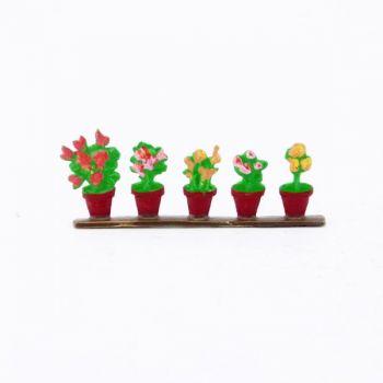 ensemble de 5 pots de fleurs