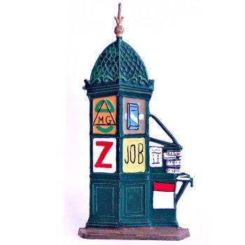colonne Morris avec kiosque à journaux