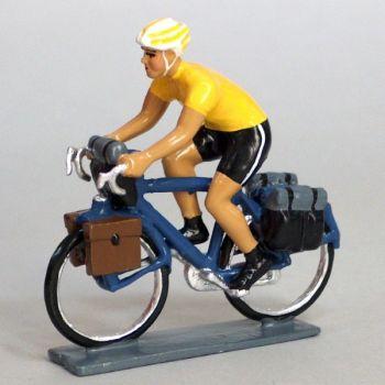 Cyclotouriste (Cyclo-randonneur), t-shirt jaune