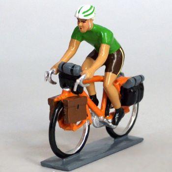 Cyclotouriste (Cyclo-randonneur), t-shirt vert