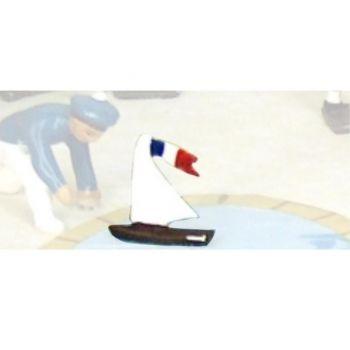 Petit voilier (tiré des scènes civiles, ref. 0533)