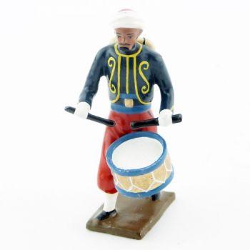 tambour du 3e rgt de zouaves (tombo jonquille) avec chèche (turban)