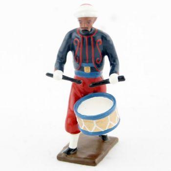 caisse roulante (tambour) de la musique du 1er rgt de zouaves
