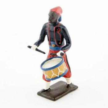 caisse roulante (tambour) de la musique de zouaves avec chéchias