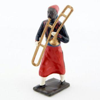 trombone à coulisse de la musique de zouaves avec chéchias