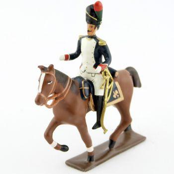 officier à cheval des chasseurs à pied de la Garde (1806)