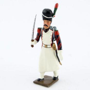 sapeur des chasseurs à pied de la Garde (1806) avec scie