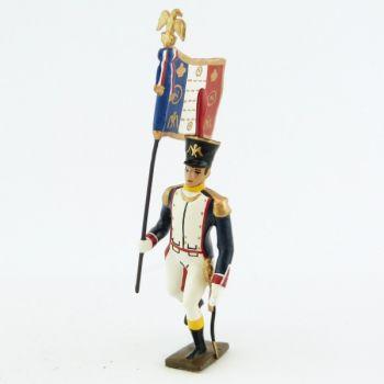 drapeau des voltigeurs du 17ème régiment de ligne à l'assaut