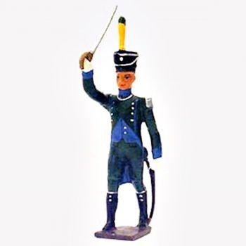 officier de l'infanterie légère italienne à l'assaut