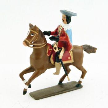 officier des mousquetaire louis xiii à cheval (1610)