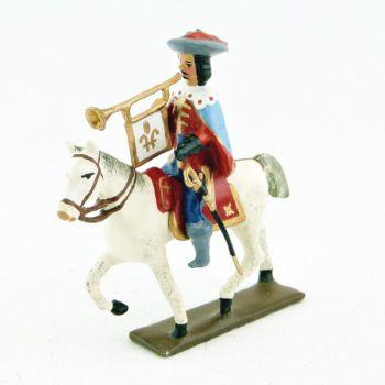 trompette des mousquetaire louis xiii à cheval (1610)
