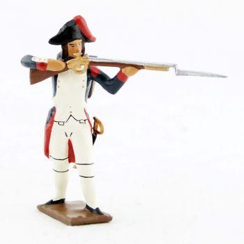 fantassin au feu de l'infanterie campagne d'Egypte (1799), fusil en joue
