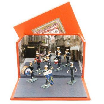 diorama ''le Bagad de Lann-Bihoué'' (tenue d'hiver) (9 p. + coffret)