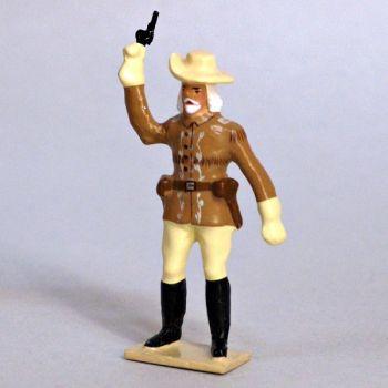 Buffalo Bill (William Frederick Cody, dit) (1846-1917) avec revolver