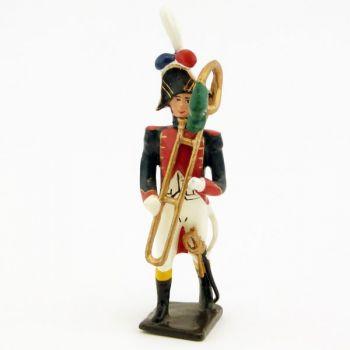 trombone buccin de la musique des grenadiers (plastron rouge) (1805)