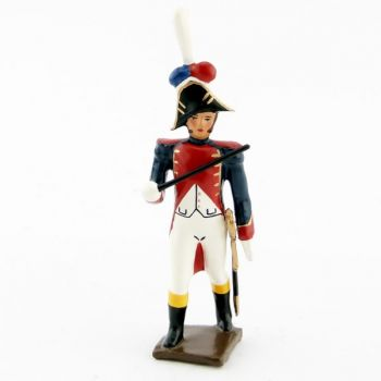 chef de musique de la musique des grenadiers (plastron rouge) (1805)