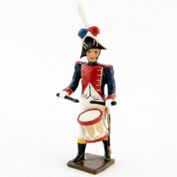 caisse roulante (tambour) de la musique des grenadiers (plastron rouge) (1805)