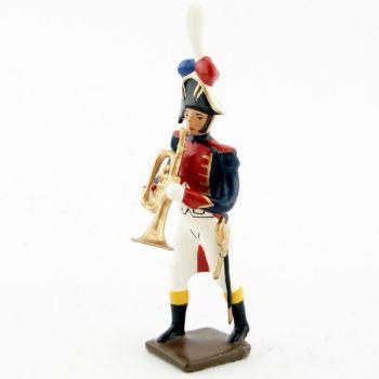 trompette de la musique des grenadiers (plastron rouge) (1805)