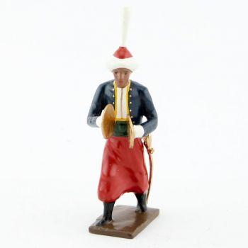 cymbalier de la musique des grenadiers (plastron rouge) (1805)