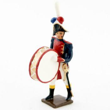 grosse caisse de la musique des grenadiers (plastron rouge) (1805)