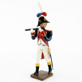 flûte de la musique des grenadiers (plastron rouge) (1805)