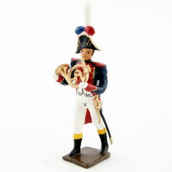 cor de la musique des grenadiers (plastron rouge) (1805)