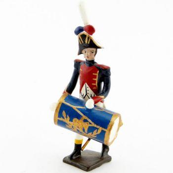 caisse claire de la musique des grenadiers (plastron rouge) (1805)