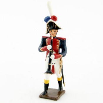 hautbois de la musique des grenadiers (plastron rouge) (1805)