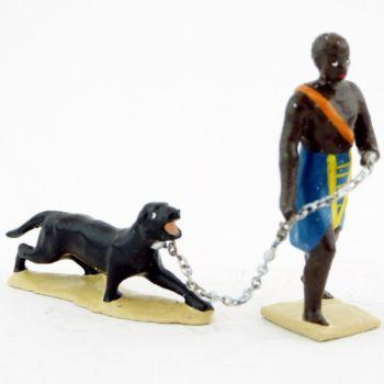 esclave tirant une panthère (2 p.)