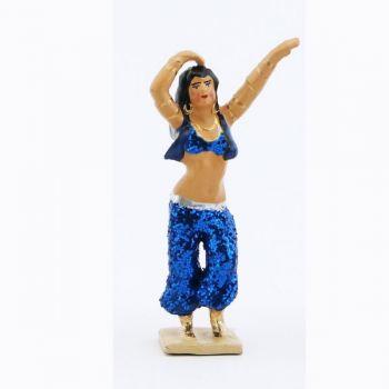 Danseuse du ventre, tenue bleu