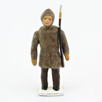 esquimau avec capuche fusil bandoulière