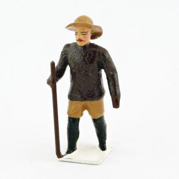 Explorateur (jeune) avec bâton