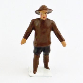 Explorateur avec vareuse et suroît, mains vides