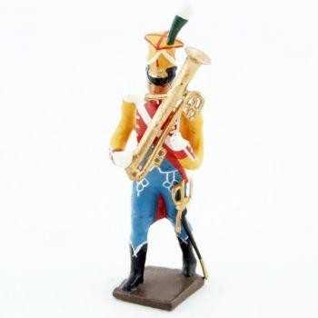 Ophicléïde de la musique des chasseurs du 17e rgt d'infanterie (1809)