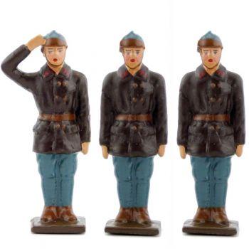 équipage du char Renault (3 pers.) (bleu Horizon)
