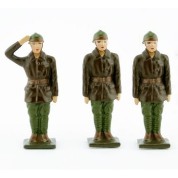équipage de l'automitrailleuse (3 pers.) (kaki)