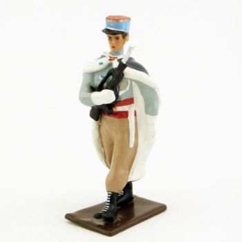 fantassin de la garde au drapeau du 1er spahis (manches longues et crispins)