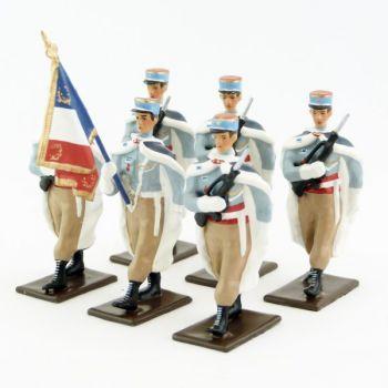 Garde au drapeau du 1er régiment de Spahis