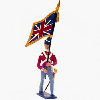 drapeau du 32nd (cornwall) regiment à l'assaut