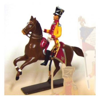 capitaine de Bosset (commandant le bataillon de Neuchâtel) à cheval