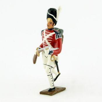 fantassin du 1er rgt de grenadiers anglais à l'assaut