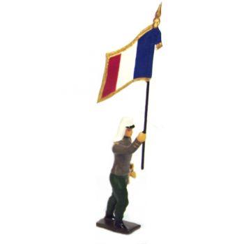 drapeau de la légion étrangère à l'assaut
