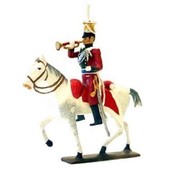 trompette des uhlans de bavière à cheval (1808)