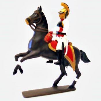 officier des cuirassiers autrichiens à cheval