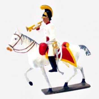 trompette des cuirassiers autrichiens à cheval