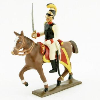 cavalier des cuirassiers autrichiens à cheval