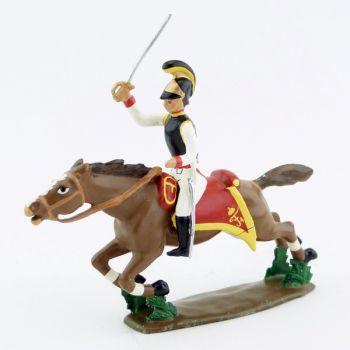 cavalier des cuirassiers autrichiens à l'assaut